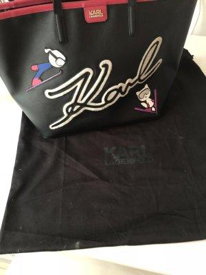 Karl Lagerfeld Borsa shopper nero-rosa Pelle