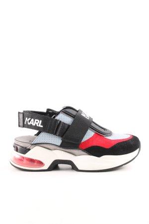 Karl Lagerfeld Sneaker Klettverschluss mehrfarbig extravaganter Stil