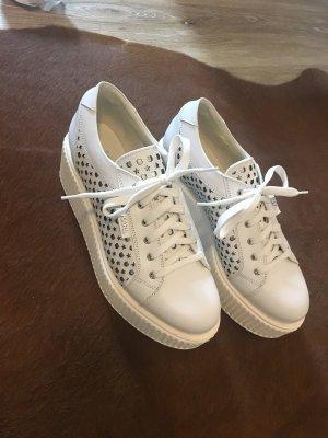 Karl Lagerfeld Sneakers met veters wit Leer