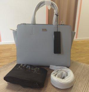 Karl Lagerfeld Sphynx Tote Arctic Hellblau blau silber Crossbody Tasche Handtasche