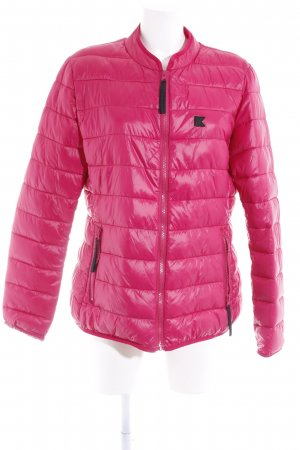 Karl Lagerfeld Quilted Jacket magenta quilting pattern casual look