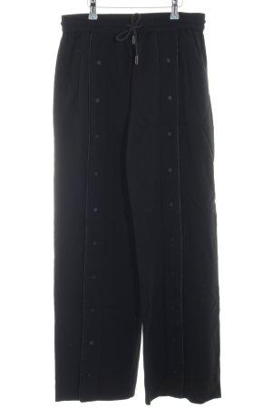 Karl Lagerfeld Stoffhose schwarz-weiß Urban-Look