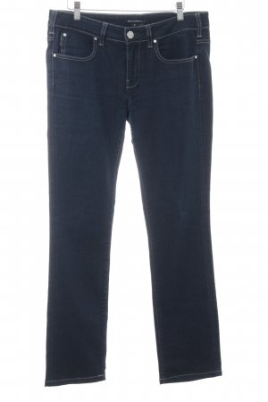 Karl Lagerfeld Straight-Leg Jeans dunkelblau Webmuster Casual-Look