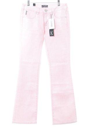 Karl Lagerfeld Straight-Leg Jeans rosa College-Look
