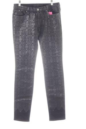 Karl Lagerfeld Stretch Jeans schwarz Mustermix extravaganter Stil