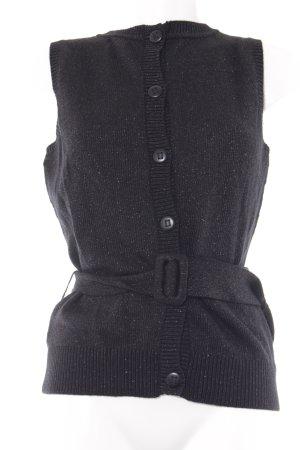 Karl Lagerfeld Knitted Top black zigzag pattern glittery
