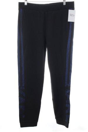 Karl Lagerfeld Sweathose schwarz-blau Schriftzug gedruckt sportlicher Stil