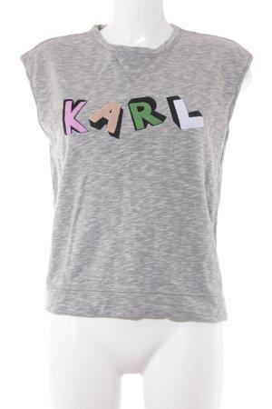 Karl Lagerfeld Sweatshirt grau meliert Casual-Look
