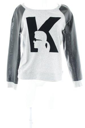 Karl Lagerfeld Sweatshirt grau-schwarz Casual-Look