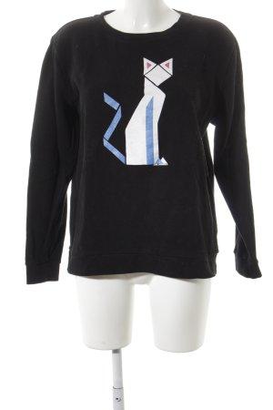 Karl Lagerfeld Sweatshirt Schriftzug gedruckt minimalistischer Stil