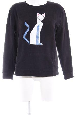 Karl Lagerfeld Sweatshirt schwarz Motivdruck Casual-Look