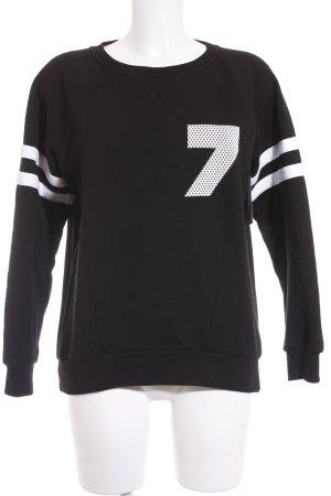Karl Lagerfeld Sweatshirt schwarz-weiß platzierter Druck Casual-Look