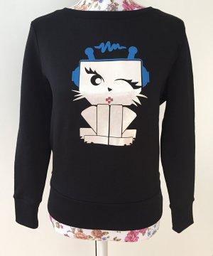 Karl Lagerfeld Sweatshirt Space Choupette Katze XS