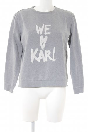 Karl Lagerfeld Sweat Shirt white-light grey printed lettering casual look