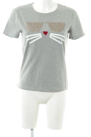 Karl Lagerfeld T-Shirt Motivdruck Casual-Look