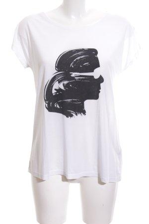 Karl Lagerfeld T-Shirt weiß Motivdruck Casual-Look