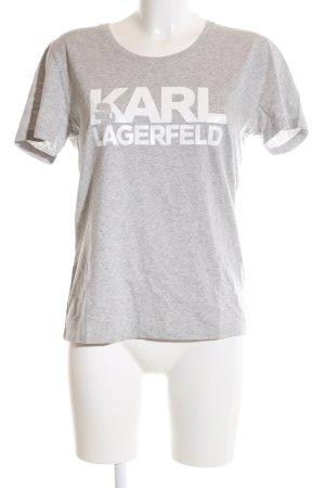 Karl Lagerfeld T-Shirt hellgrau meliert Casual-Look