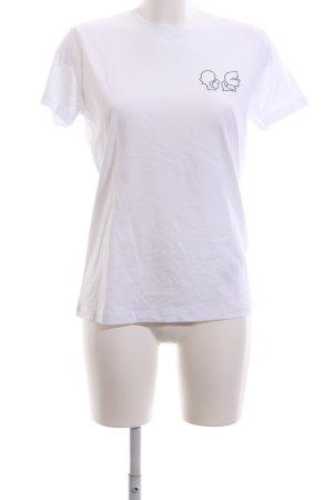 Karl Lagerfeld T-Shirt weiß-schwarz Casual-Look