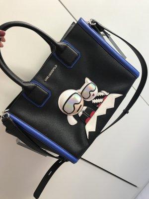 Karl Lagerfeld Borsa con manico nero-blu scuro