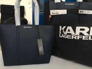 Karl Lagerfeld Borsa shopper blu scuro Pelle