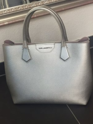 a647a022eb0a6 Karl Lagerfeld Tasche Handtasche Shopper silber
