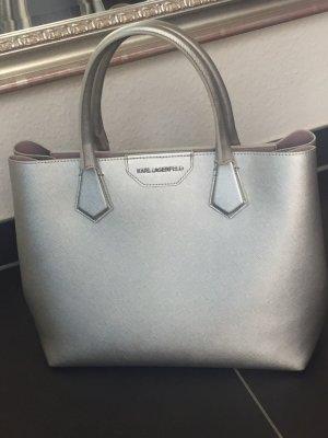 Karl Lagerfeld Tasche Handtasche Shopper silber