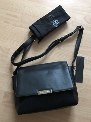 Karl Lagerfeld Tasche NEU 100% Leder OLYMPIA SHOULDER BAG schwarz