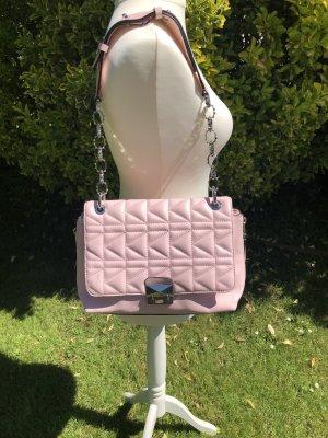 Karl Lagerfeld Tasche rosa Leder quilted