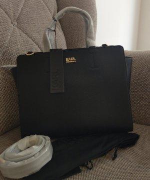 Karl Lagerfeld Tasche sphynx Tote Crossbody schwarz gold neu handtasche