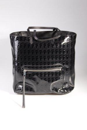 Karl Lagerfeld Tote PVC Logo Shopper Large Shiny Black