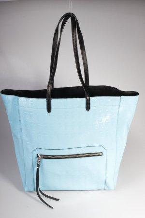 Karl Lagerfeld Tote PVC Logo Shopper Large Shiny Turquoise