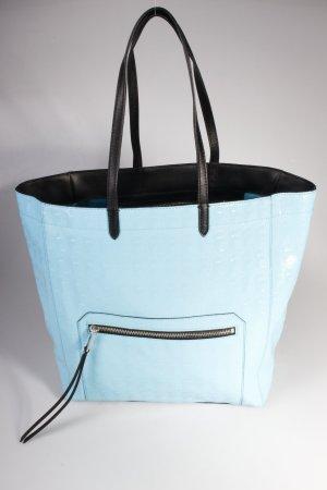 Karl Lagerfeld Tote PVC Logo Shopper Large Shiny Turquoise II