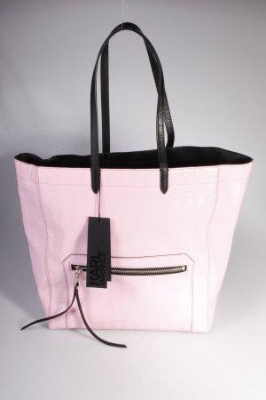Karl Lagerfeld Tote PVC Logo Shopper Shiny Pink II