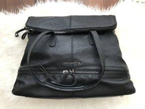 Karl Lagerfeld Tote Shopper Tasche schwarz Büffelleder NP 459€