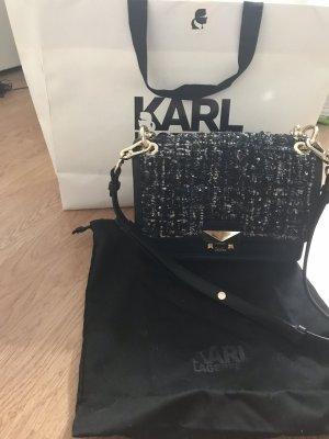 Karl Lagerfeld Borsa a spalla blu scuro-nero