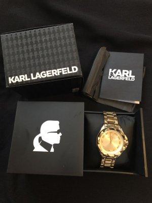 Karl Lagerfeld Watch With Metal Strap sand brown-dark yellow