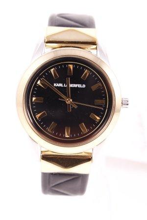 "Karl Lagerfeld Uhr ""Labelle Stud Ladies Watch Black/Silver/Silver"""