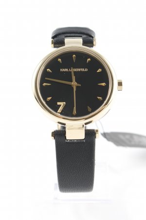 "Karl Lagerfeld Watch With Leather Strap ""KL5006 Aurelie Classic Gold"""