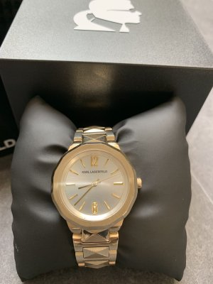 Karl Lagerfeld Watch With Metal Strap gold-colored