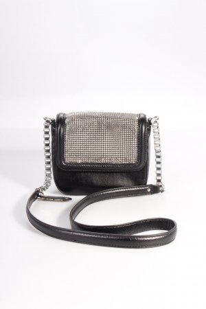Karl Lagerfeld Umhängetasche Embellished Shoulder Bag Black Metallmesh