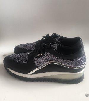 Karl Lagerfeld ungetragene Glitter Mix Schuhe