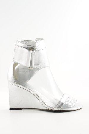 Karl Lagerfeld Wedges Sandaletten silberfarben Casual-Look