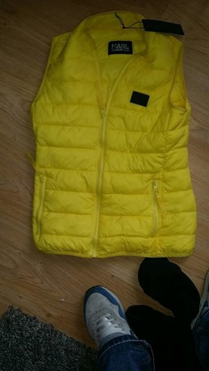 Karl Lagerfeld Quilted Gilet yellow