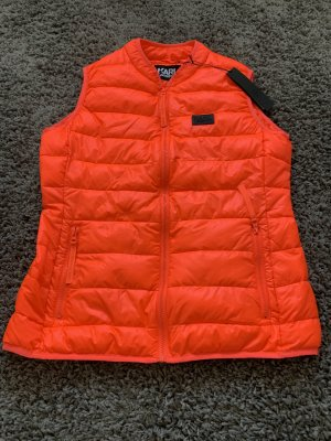 Karl Lagerfeld Quilted Gilet neon orange