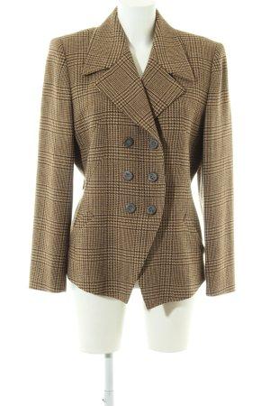 Karl Lagerfeld Woll-Blazer bronzefarben-creme Allover-Druck Business-Look