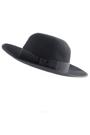 Karl Lagerfeld Wollhut schwarz Street-Fashion-Look