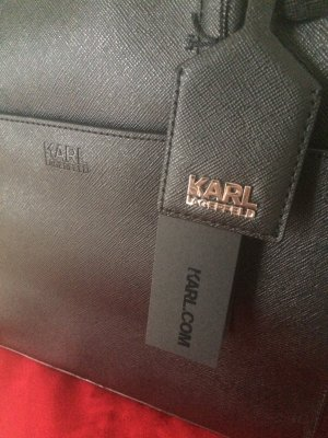 Karl Lagerfeld zip Shopper Black