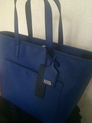 Karl Lagerfeld zip Shopper Blue