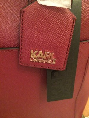 Karl Lagerfeld zip Shopper Bordeaux.Neu