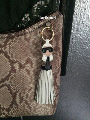 Key Chain white imitation leather